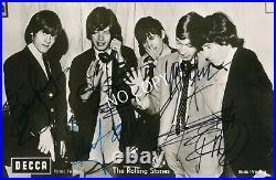 100% Original Autogramm Autograph Karte handsigniert The Rolling Stones E1.21