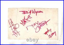 1963 ROLLING STONES HAND SIGNED AUTOGRAPHs ON VINTAGE ALBUM PAGE