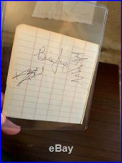 1966 Rolling Stones authentic signed/autographed pages-Brian Jones/Mick Jagger+3