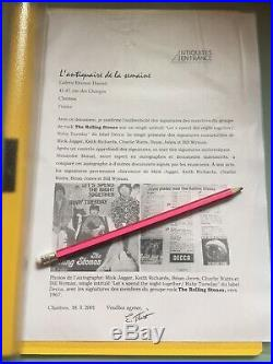 1967 THE ROLLING STONES signiert Single Autogramm Autograph Unterschrift mit COA