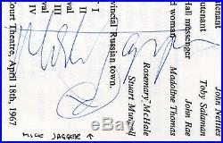 1967 The Rolling Stones Mick Jagger Signed Autograph Theater Program JSA LOA