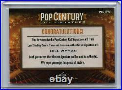 2020 Leaf Pop Century BILL WYMAN Cut Signature AUTOGRAPH AUTO Rolling Stones