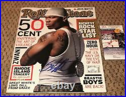 50 Cent Signed Rolling Stone Magazine Jsa Coa Autograph Curtis Jackson Rap