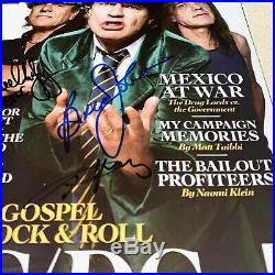 ACDC ANGUS MALCOLM YOUNG BRIAN signed autographed ROLLING STONE MAGAZINE BECKETT
