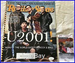 Adam Clayton Larry Mullen signed autographed U2 2001 Rolling Stone magazine JSA