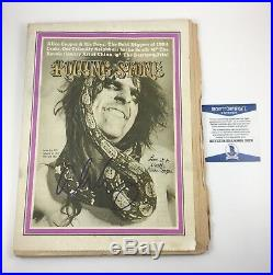 Alice Cooper Rolling Stone Magazine Signed Autographed March 30, 1972 Beckett