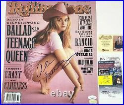 Alicia Silverstone Signed 11X14 Rolling Stone Cover Photo JSA COA Autograph