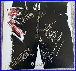Authentic Rolling Stones Signed Lp Record & Cover 5 Autographed Sticky Fingers