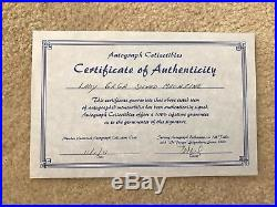 Autographed Lady Gaga Rolling Stone Magazine Certificate Of Authenticity