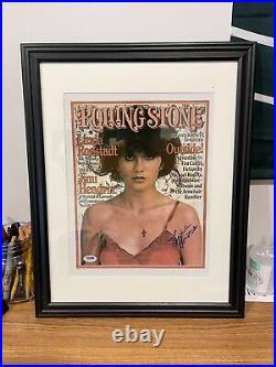 Autographed Linda Ronstadt Signed 11x14 Framed Photo Rolling Stones PSA STICKER