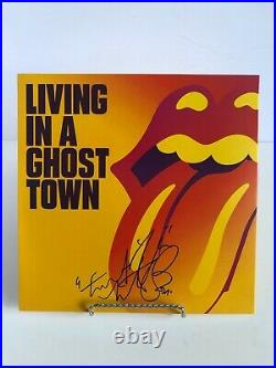 Autographed Rolling Stones signed Charlie Watts Vinyl 10 LP Living in a Ghost