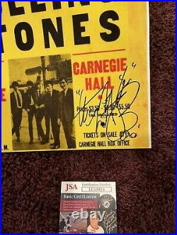 Awesome Charlie Watts Signed Autographed 11 By 14 Photo JSA Rolling Stones