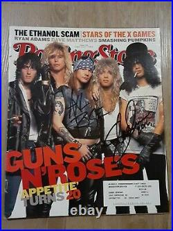 Axl Rose And Slash Guns N Roses Autographed Signed 2007 Rolling Stone Magazine