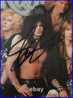 Axl Rose Slash Of Guns N Roses Autographed Signed 1991 Rolling Stone Magazine
