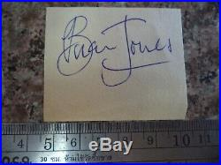BRIAN JONES (1942 1969) SCARCE AUTOGRAPH ON PAGE 1960s ROLLING STONES FOUNDER