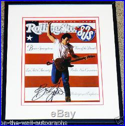 BRUCE SPRINGSTEEN HAND SIGNED AUTOGRAPHED FRAMED ROLLING STONE MAGAZINE! WithPROOF