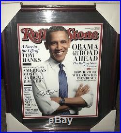Barack Obama Signed Autographed 11x14 Rolling Stone Photo Custom Framed 1/1