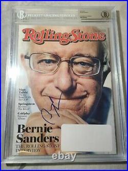 Bernie Sanders Signed ROLLING STONE full Magazine Beckett Slabbed 12-3-2015 RARE