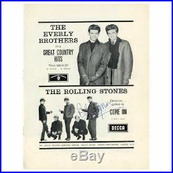 Bill Wyman 1963 Autographed Rolling Stones Programme Page (UK)