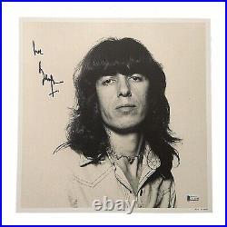 Bill Wyman Signed 12x12 Rolling Stones Art Print Photo Beckett BAS Autograph HOF