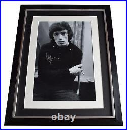 Bill Wyman Signed Framed Photo Autograph 16x12 display Rolling Stones COA