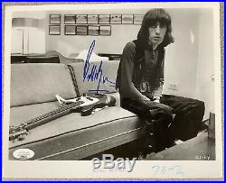 Bill Wyman Signed Photo 8x10 JSA Rolling Stones Autograph Bass Guitar HOF JSA