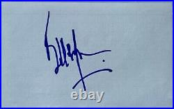 Bill Wyman signed index card the rolling stones autographed beckett coa slabbed