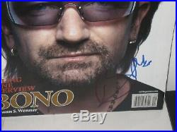 Bono Signed Rolling Stone U2 Magazine Edge Adam Clayton Rock Autograph Proof