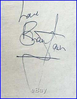 Brian Jones Rolling Stones Signed Vintage 1960s Autographed Page