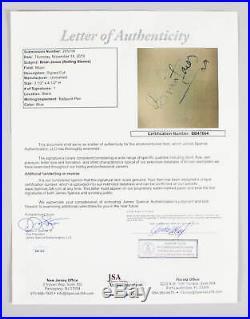 Brian Jones Signed Cut with Photo Rolling Stones COA JSA