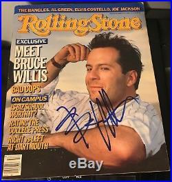 Bruce Willis signed Rolling Stone magazine vintage die hard
