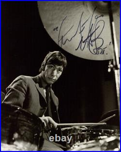 CHARLIE WATTS SIGNED AUTOGRAPHED 8x10 PHOTO ROLLING STONES DRUMMER BECKETT BAS