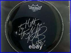 CHARLIE WATTS autograph drumhead Rolling Stones drummer signed auto