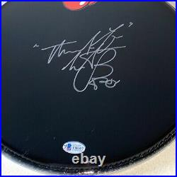 CHARLIE WATTS signed autographed DRUMHEAD THE ROLLING STONES BECKETT COA Y80607