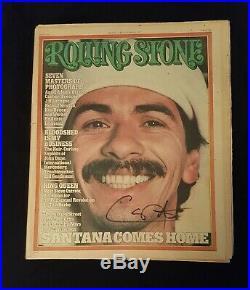 Carlos Santana Signed Autographed Original Rolling Stone Magazine VERY RARE