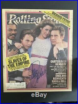 Carrie Fisher Billy Dee Williams Hand Signed Autograph rolling stone Star Wars