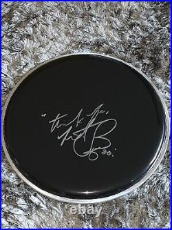 Charlie Watts Hand Signed Drum Skin- Rolling Stones Drummer & Legend