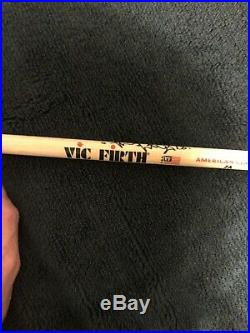 Charlie Watts Hand Signed Vic Firth Drumstick The Rolling Stones Rare