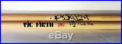 Charlie Watts Rolling Stones Hand Signed Autographed Signature Drumsticks! Proof