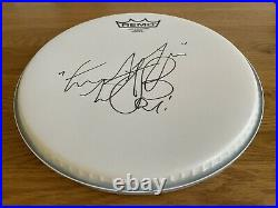 Charlie Watts SIGNED Remo Drum Skin Head The Rolling Stones Brand New