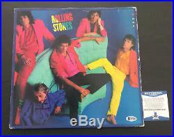 Charlie Watts Signed Auto Rolling Stones Dirty Work Vinyl Lp Beckett Bas Coa 1