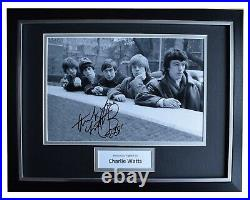 Charlie Watts Signed Autograph 16x12 framed photo display Rolling Stones Music