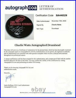 Charlie Watts Signed Autograph Custom Rolling Stones 10 Drumhead Legend Acoa