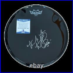 Charlie Watts Signed Autograph Drum Head The Rolling Stones Beckett Bas Coa 1