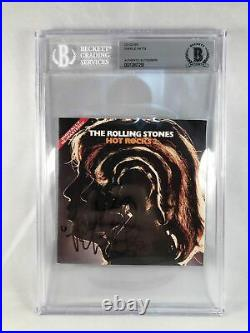 Charlie Watts Signed CD Cover Beckett BAS The Rolling Stones 1 COA