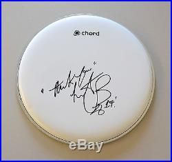 Charlie Watts Signed Drum Skin Rolling Stones Drummer Autograph Memorabilia COA