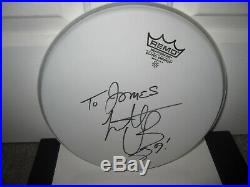 Charlie Watts Signed Drumhead Rolling Stones Rock Autograph No Filter Tour