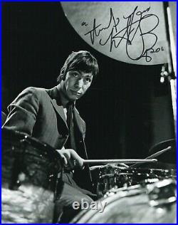 Charlie Watts Signed Photo Foto Autografata Autografo Rolling Stones Coa