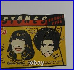 Charlie Watts The Rolling Stones Signed Autograph JSA Banner Poster Some Girls