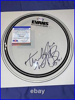 Charlie Watts autographed Evans 10 Drumhead Rolling Stones PSA